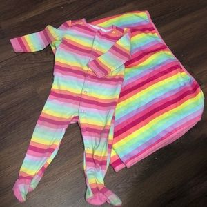 Infant Girl Sleeper and Blanket Set